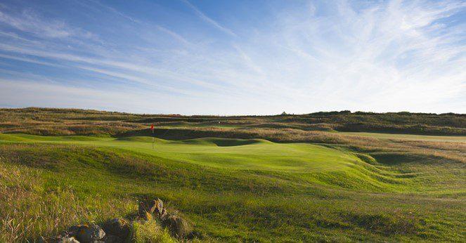 Most famous hole at Prestwick Golf Course, Scotland
